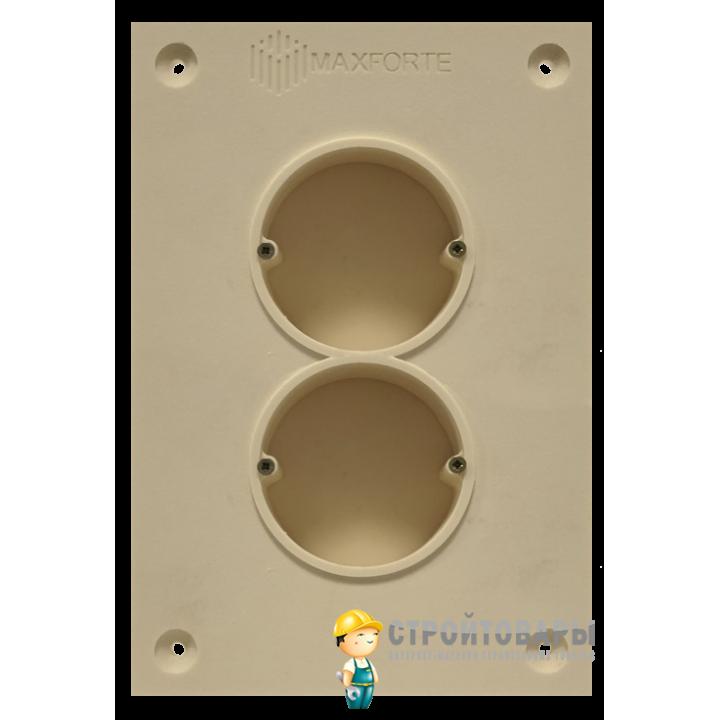 МаксФорте SoundBOX 2S звукоизоляционный подрозетник (2х секционный)