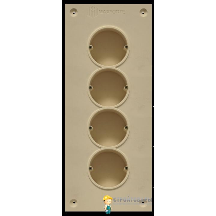 МаксФорте SoundBOX 4S звукоизоляционный подрозетник (4х секционный)