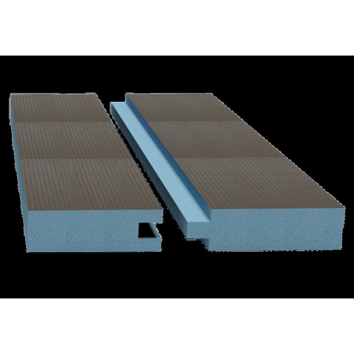 Руспанель РПГ двухсторонняя Кромка шип-паз 2485х585х100 мм (1,45 м²)