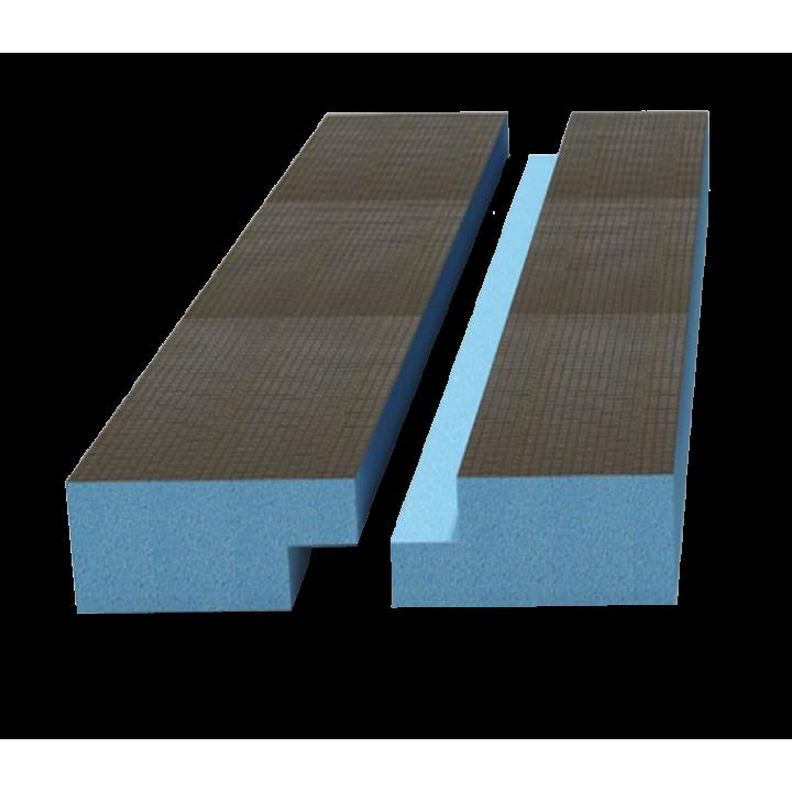 Руспанель РПГ двухсторонняя Кромка четверть 2485х585х80 мм (1,45 м²)