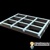 Подиум прямоугольный для поддона 1200х900х50