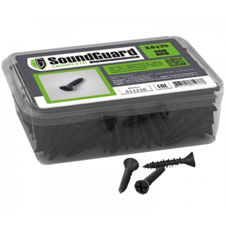 SoundGuard ГП 3,9х25 саморезы (200шт.)