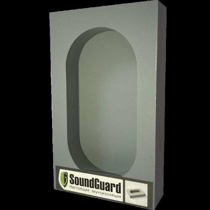 Звукоизоляционный подрозетник 2-секционный SoundGuard ИзоБокс2 Стандарт