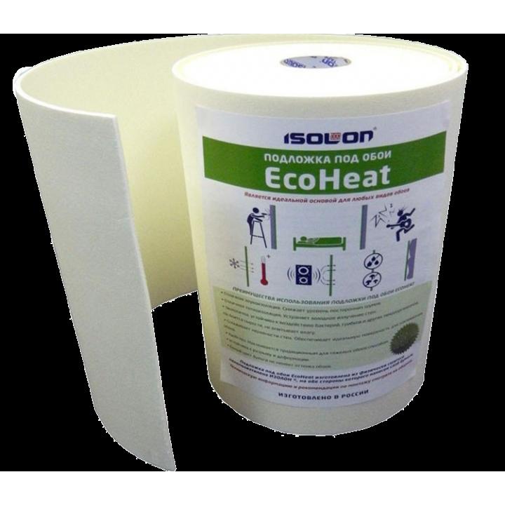 Изолон ЕcoНeat Тепло - звукоизоляционная подложка под обои