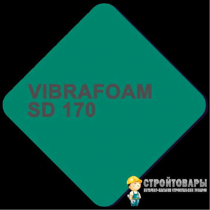 Vibrafoam SD 170 (Красный) 2000x500x25 (1м²)
