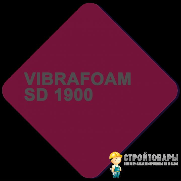 Vibrafoam SD 1900 (Красный) 2000x500x25 (1м²)