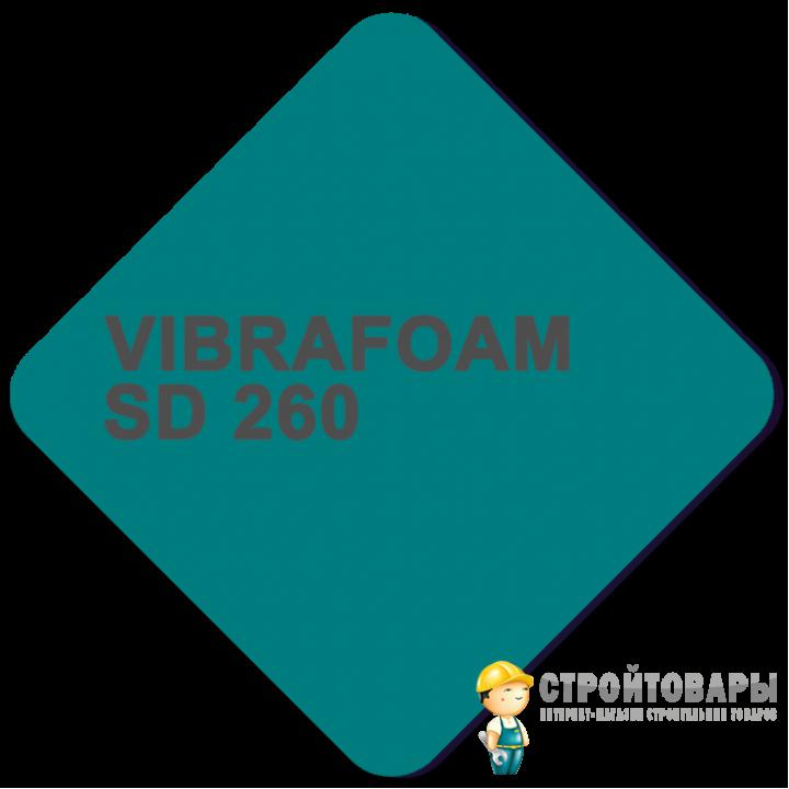 Vibrafoam SD 260 (Красный) 2000x500x25 (1м²)